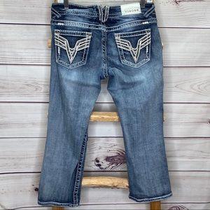 Vigoss Denim Jeans Chelsea Capri Shorts 7/8